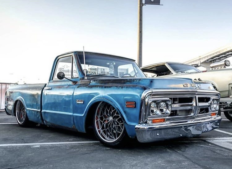 GMC C10 Pickup sitting on a Roadster Shop Chassis with Aldan American Phantom Series Coilovers