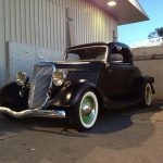 black 1932 ford coupe