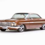 1961 chevrolet impala on white background