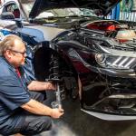 Installing Lowering Springs on 2017 black Ford Mustang