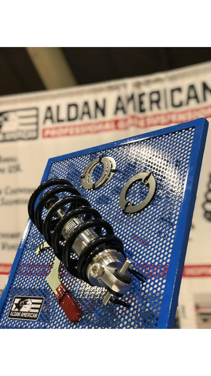 Aldan American Coilover Shock on Display