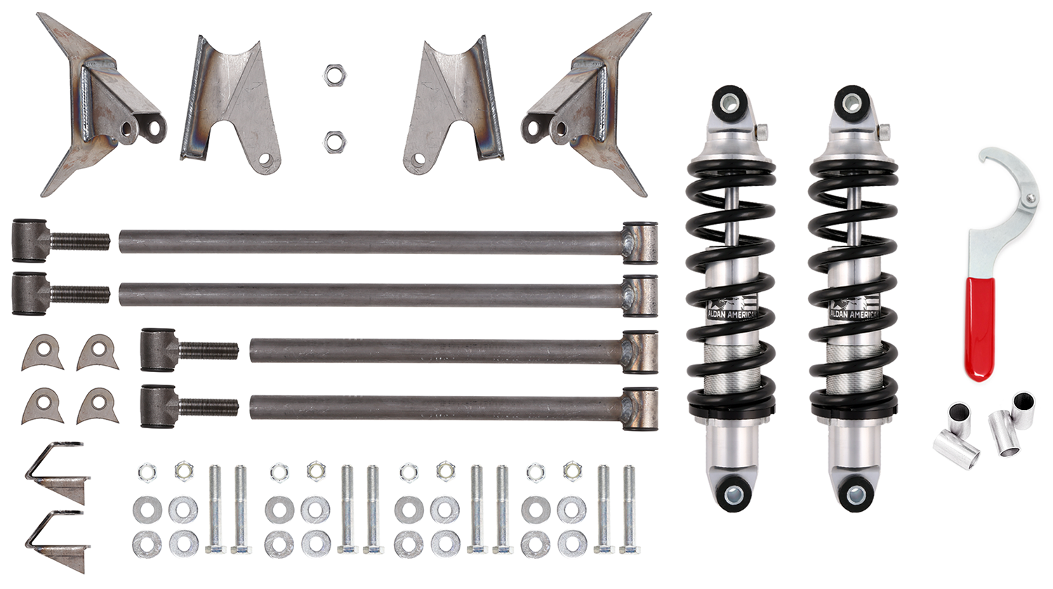 Triangulated 4-link kit with coilovers