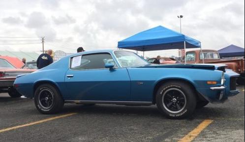 Blue Chevrolet Camaro at Swap Meet