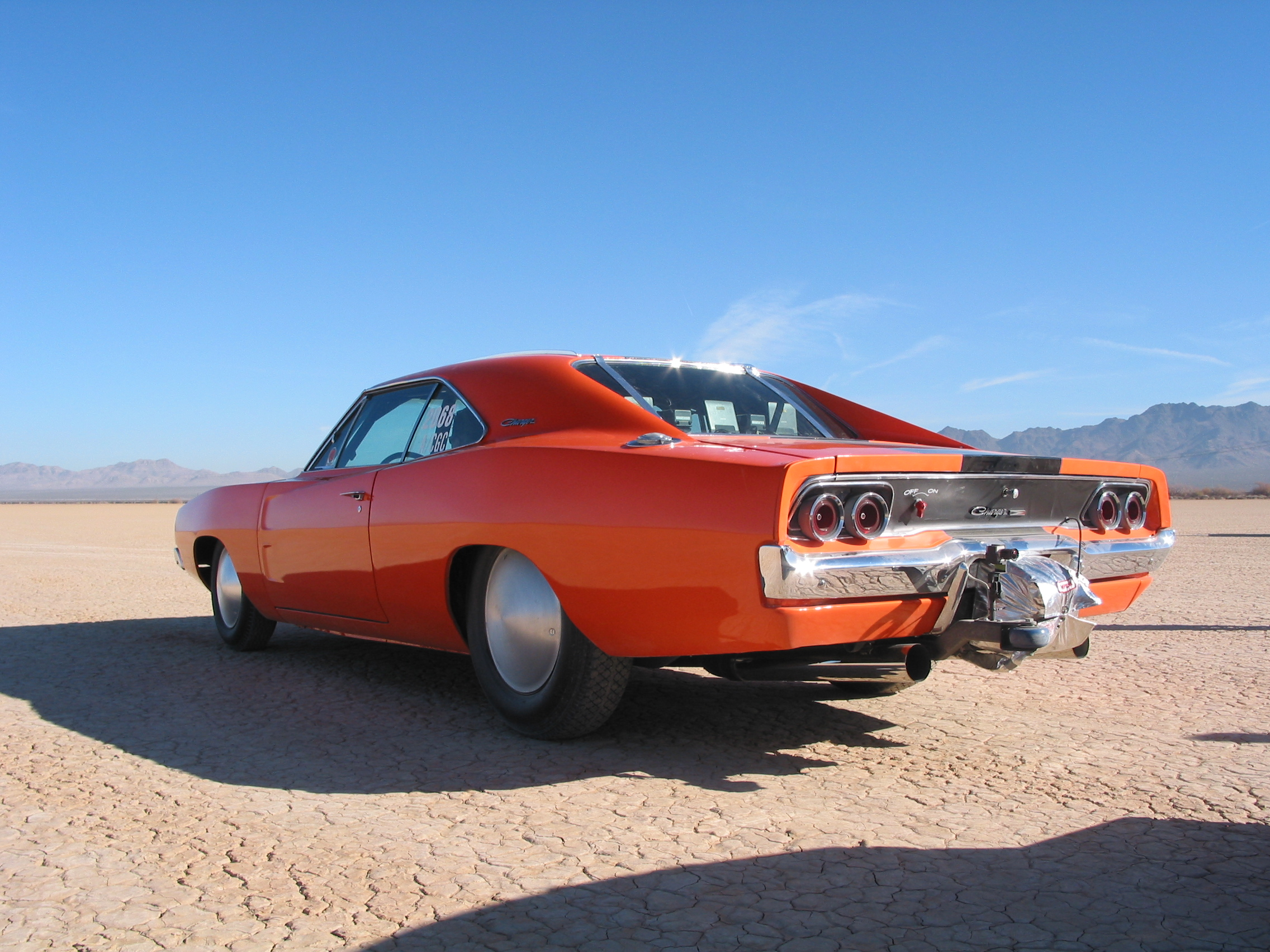 1968 Dodge Charger at the dry lake bed